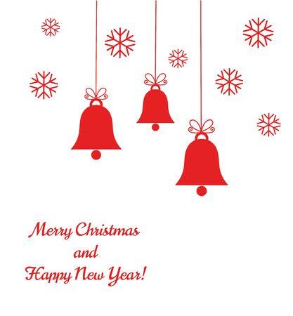 Weihnachtsglocken Hintergrund. Vektor-Illustration