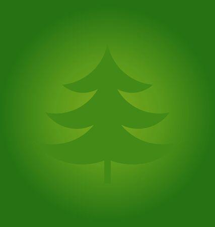 Christmas tree green background. Vector illustration Illustration