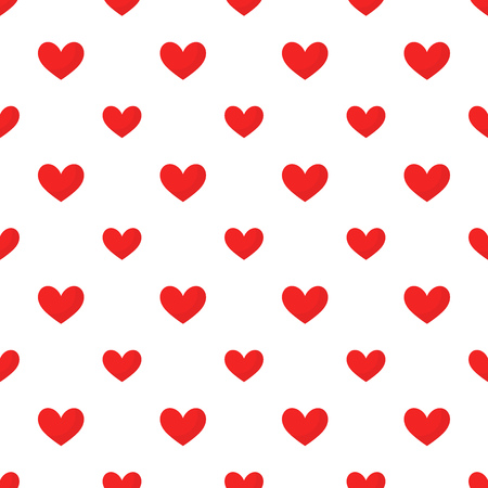 repetitive: Red hearts pattern illustration Illustration