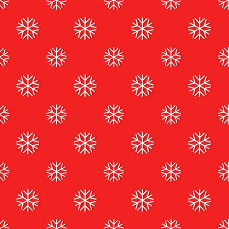 blizzards: Snowflakes seamless red pattern illustration