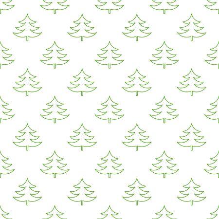 trees illustration: Christmas trees pattern illustration