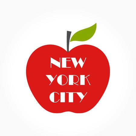 ny: Big apple - NY concept illustration