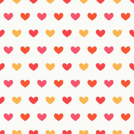 Hearts seamless pattern. Flat design illlustration