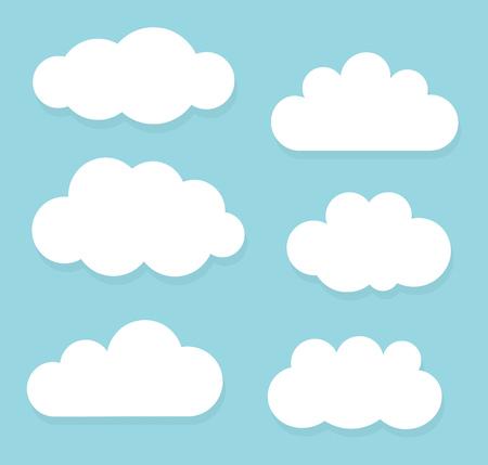 clouds blue sky: Set of clouds on blue sky illustration