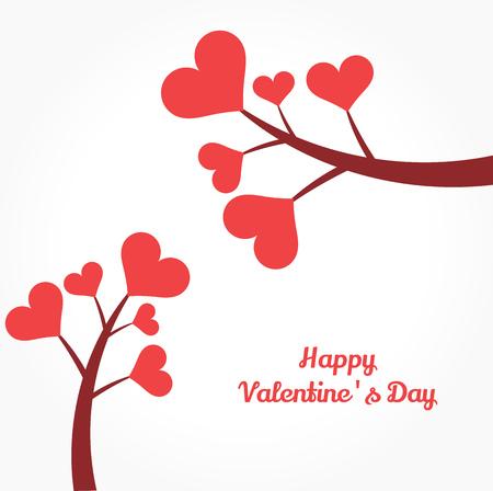 Wachsende Herzen Für Die Färbung. Valentinstag Illustration ...
