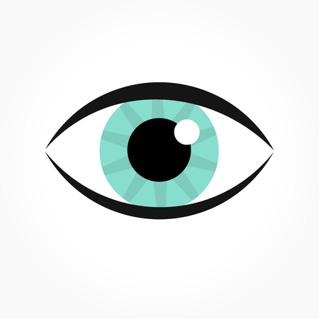 blue eye: Blue eye icon. Vector illustration