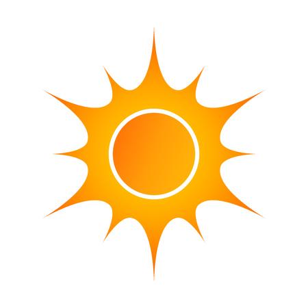sunshine: Yellow sun icon vector illustration Illustration