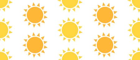 sunbeam background: Sun seamless pattern. Vector illustration Illustration