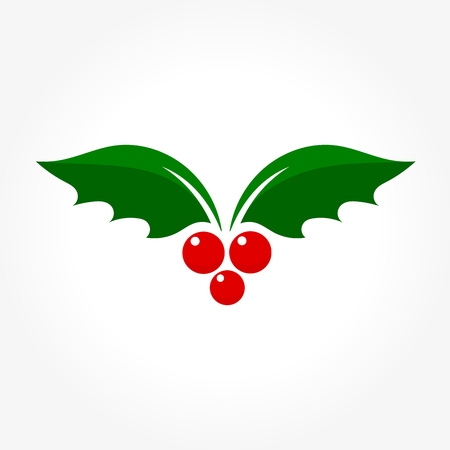 aquifolium: Holly berry Christmas icon