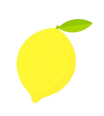 symbolical: Lemon fruit icon. Vector illustration