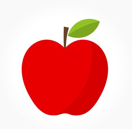 ripe: Red apple. Vector illustration Illustration