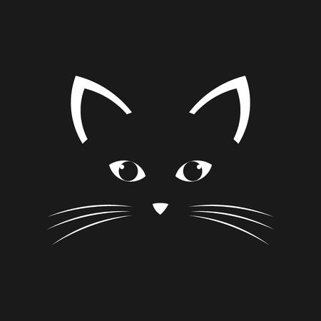 A Cat face. Vector illustration