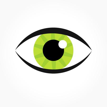 Green eye. Vector illustration