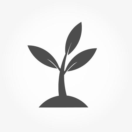 Little plant icon. Vector illustration