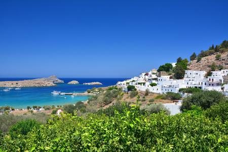 Lindos town on Greek Rhodes island