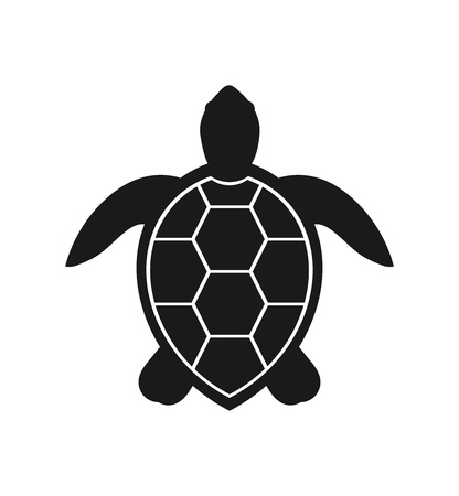 Sea turtle icon. Vector illustration