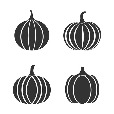 Set of autumn pumpkin icons. Vector illustration Illusztráció