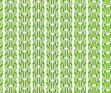 Abstract geometric green leaves pattern. Vector illustration 向量圖像