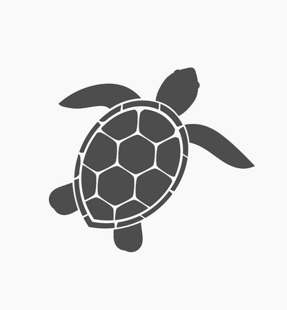 Zeeschildpad pictogram. Vector illustratie Vector Illustratie