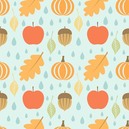 Autumn seamless pattern. Vector illustration