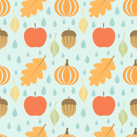 Autumn seamless pattern. Vector illustration