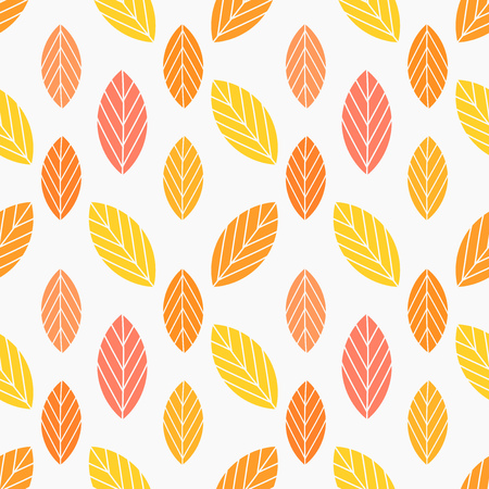 Autumn leaves colorful pattern. Vector illustration Illustration