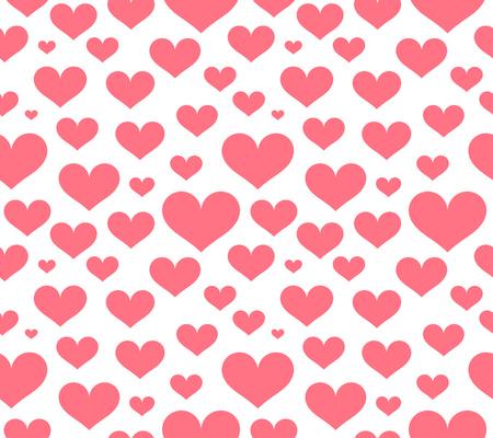 Pink hearts seamless pattern. Vector illustration Illustration