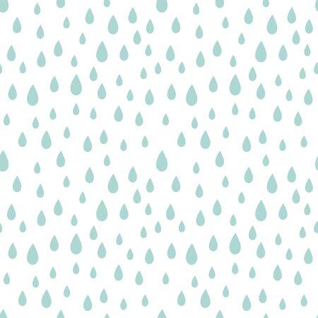 Rain drops seamless pattern. Vector illustration