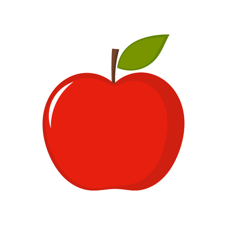 Red apple. Vector illustration Vectores