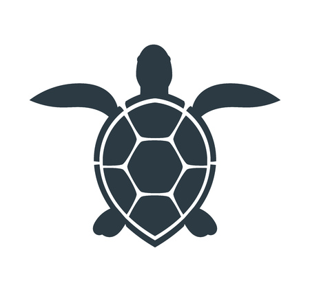 Sea turtle icon. Vector illustration
