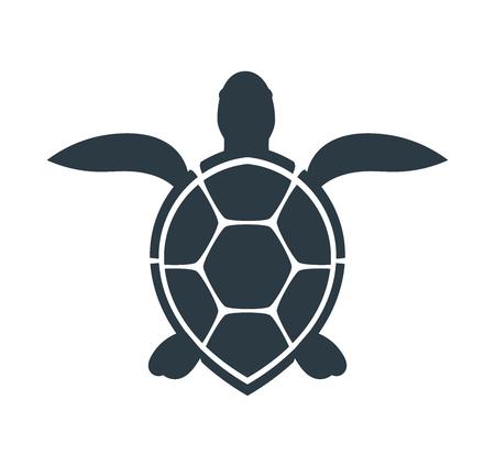 Zeeschildpad pictogram. Vector illustratie