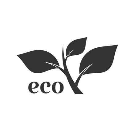 Eco plant icon. Vector illustration
