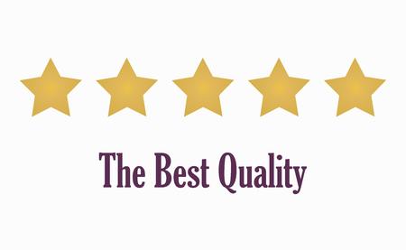 5 gold stars symbol of quality. Vector illustration