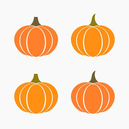 thanksgiving day symbol: Set di icone di zucca di autunno. Illustrazione vettoriale