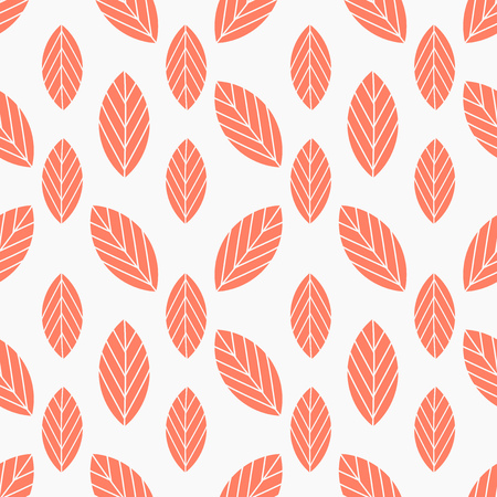 Autumn leaves seamless red pattern. Vector illustration Illustration