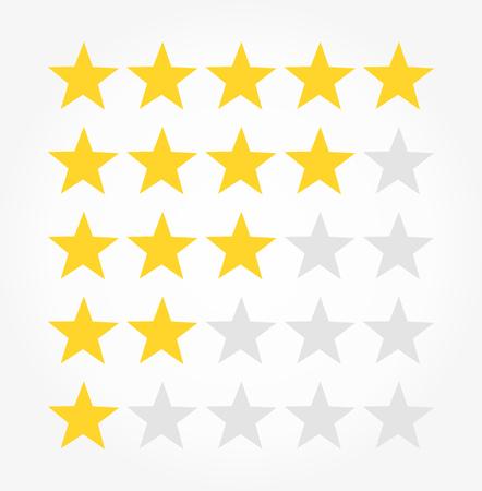 Rating rank stars symbols. Vector illustration
