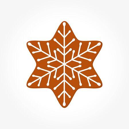 Christmas gingerbread cookie star. Vector illustration Illustration