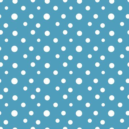 Polka dots snow seamless pattern vector illustration  イラスト・ベクター素材