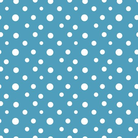 Polka dots snow seamless pattern vector illustration Ilustrace