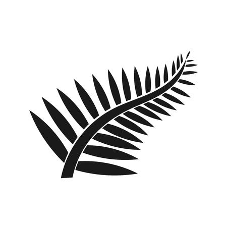 Fern leaf icon. New Zealand symbol illustration Иллюстрация
