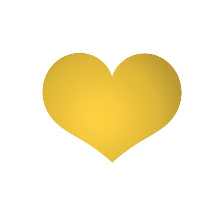 Golden heart icon