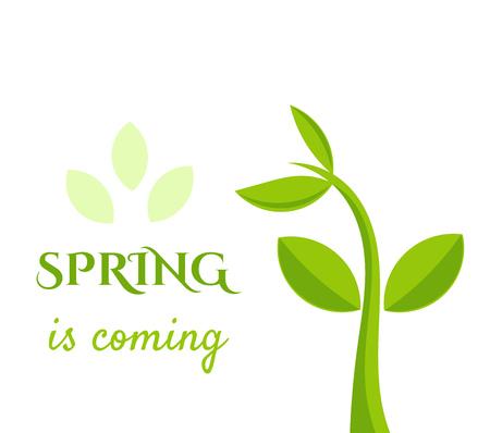 printemps arrive illustration