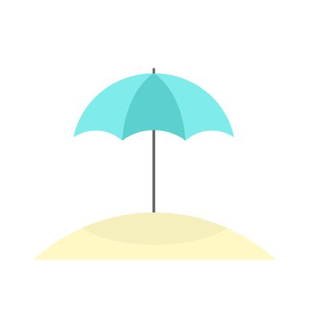 Parasol on beach icon