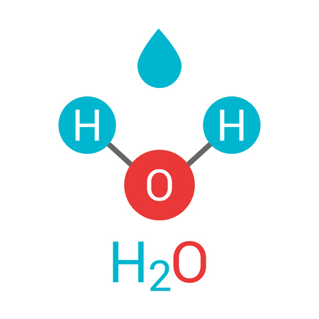 Water molecule H2O. Vector illustration
