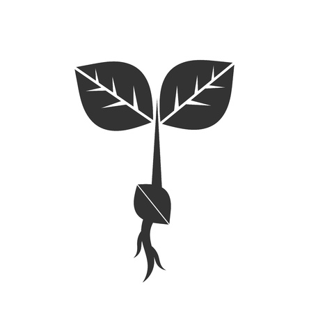 Little plant seedling icon. Vector illustration Illustration