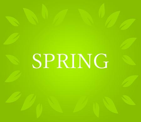 Spring on green background. Vector illustration