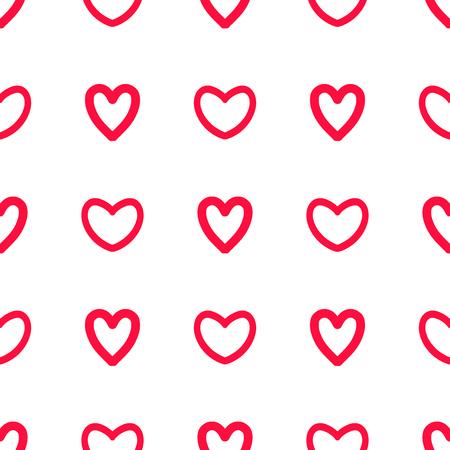 Read hearts doodle pattern illustration background