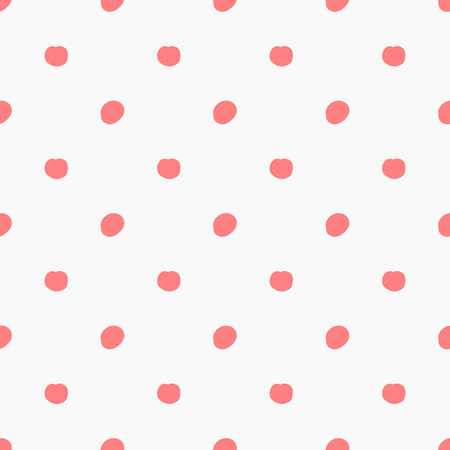 Doodle pink polka dots pattern. Vector illustration Çizim