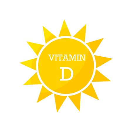 Conception solaire de vitamine D. Illustration vectorielle