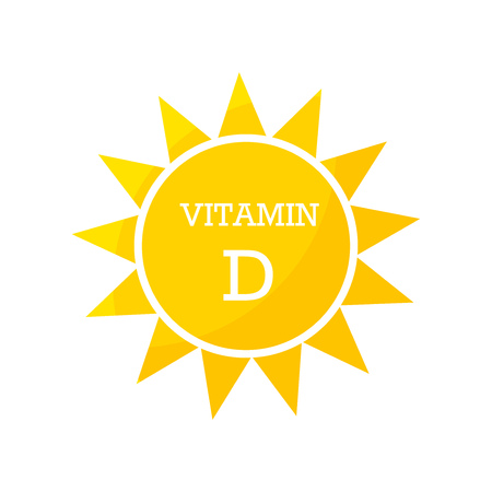 Vitamin D Sonnen Design. Vektorillustration